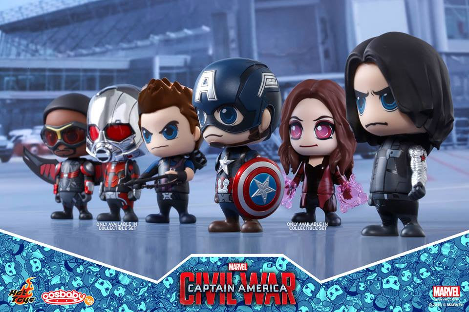Hot Toys - COSB256 - Captain America: Civil War - Team Captain America Cosbaby Bobble-Head Collectible Set Of 6 - Marvelous Toys - 2