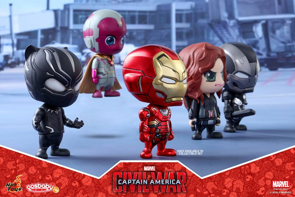 (IN STOCK) Hot Toys - COSB257 - Captain America: Civil War - Team Iron Man Cosbaby Bobble-Head Collectible Set Of 5 - Marvelous Toys - 2