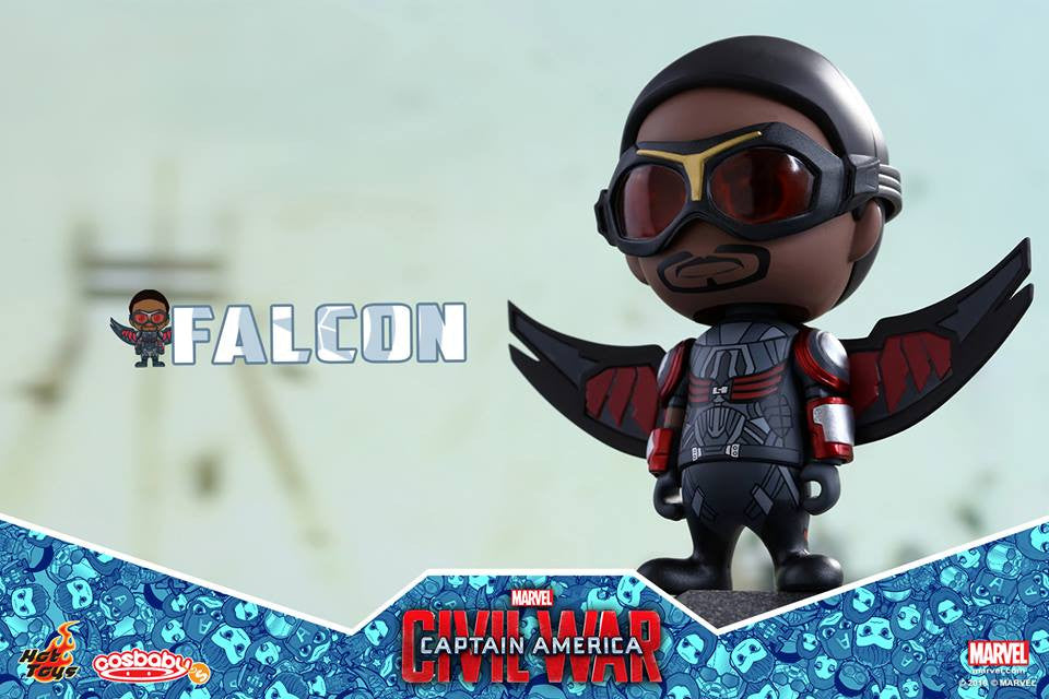 (IN STOCK) Hot Toys - COSB248 - Captain America: Civil War -  Falcon Cosbaby Bobble-Head - Marvelous Toys - 1
