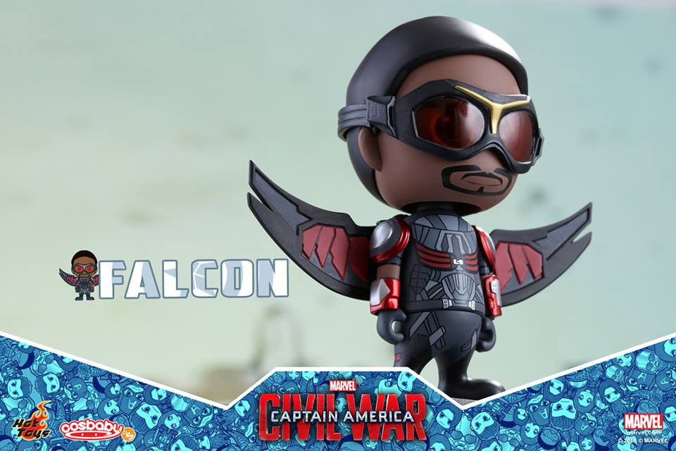 (IN STOCK) Hot Toys - COSB248 - Captain America: Civil War -  Falcon Cosbaby Bobble-Head - Marvelous Toys - 3