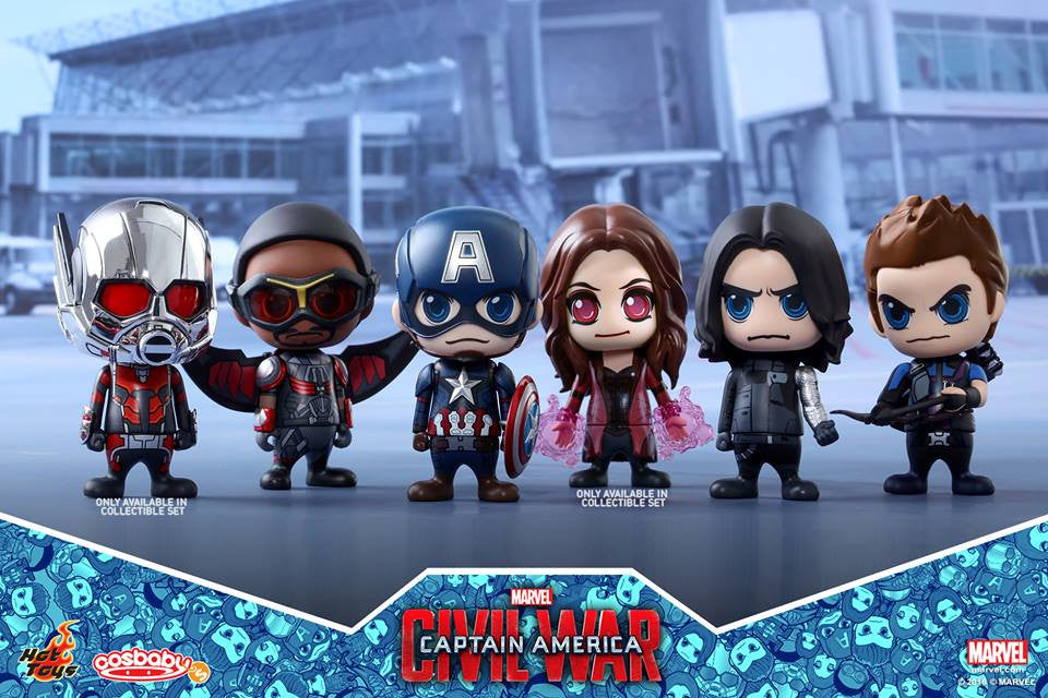 Hot Toys - COSB256 - Captain America: Civil War - Team Captain America Cosbaby Bobble-Head Collectible Set Of 6 - Marvelous Toys - 1