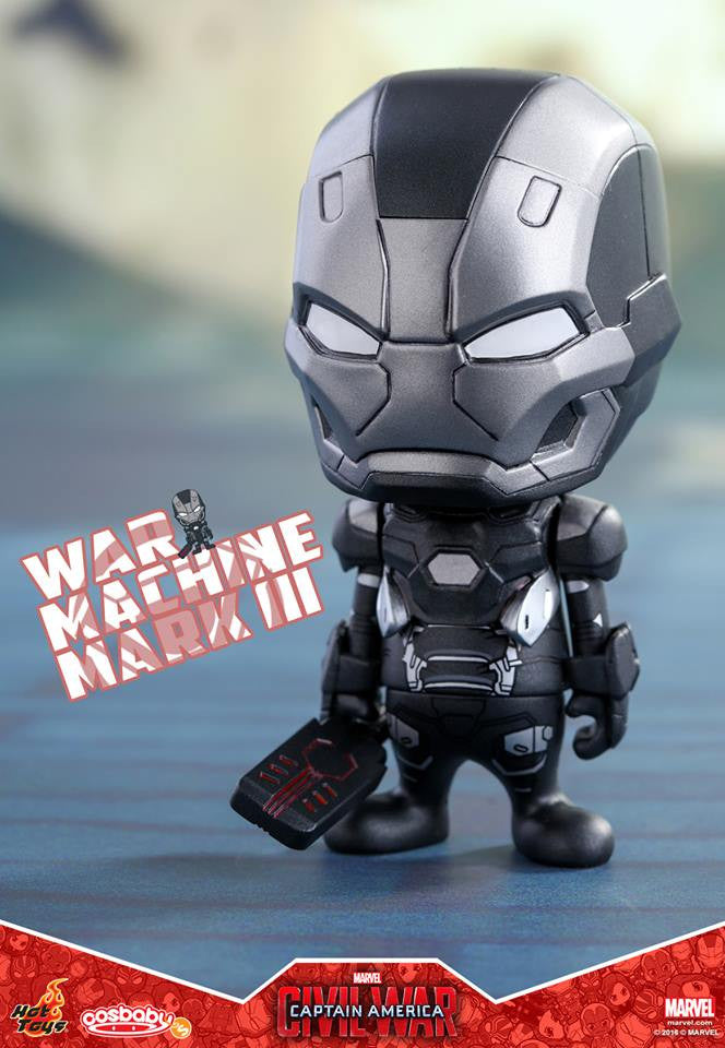Hot Toys - COSB252 - Captain America: Civil War -  War Machine Mark III Cosbaby Bobble-Head - Marvelous Toys - 1