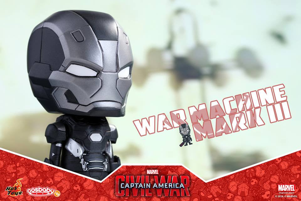 Hot Toys - COSB252 - Captain America: Civil War -  War Machine Mark III Cosbaby Bobble-Head - Marvelous Toys - 3