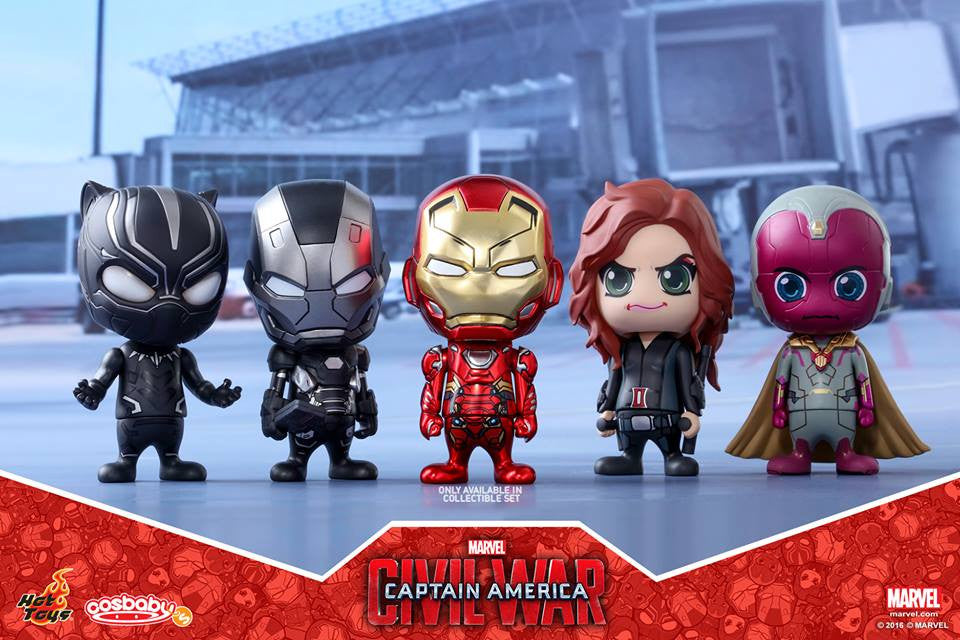 (IN STOCK) Hot Toys - COSB257 - Captain America: Civil War - Team Iron Man Cosbaby Bobble-Head Collectible Set Of 5 - Marvelous Toys - 1