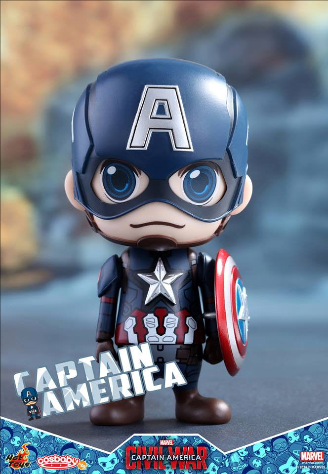Hot Toys - COSB199 - Captain America: Civil War -  Captain America Cosbaby Bobble-Head - Marvelous Toys - 1