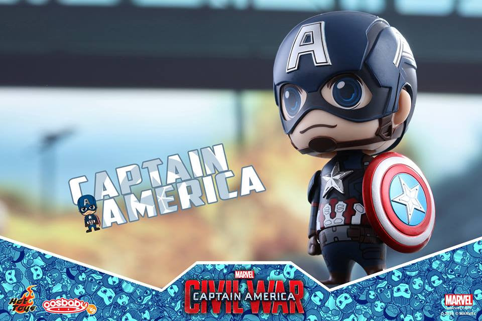 Hot Toys - COSB199 - Captain America: Civil War -  Captain America Cosbaby Bobble-Head - Marvelous Toys - 2