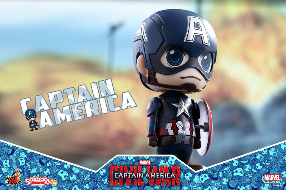 Hot Toys - COSB199 - Captain America: Civil War -  Captain America Cosbaby Bobble-Head - Marvelous Toys - 3