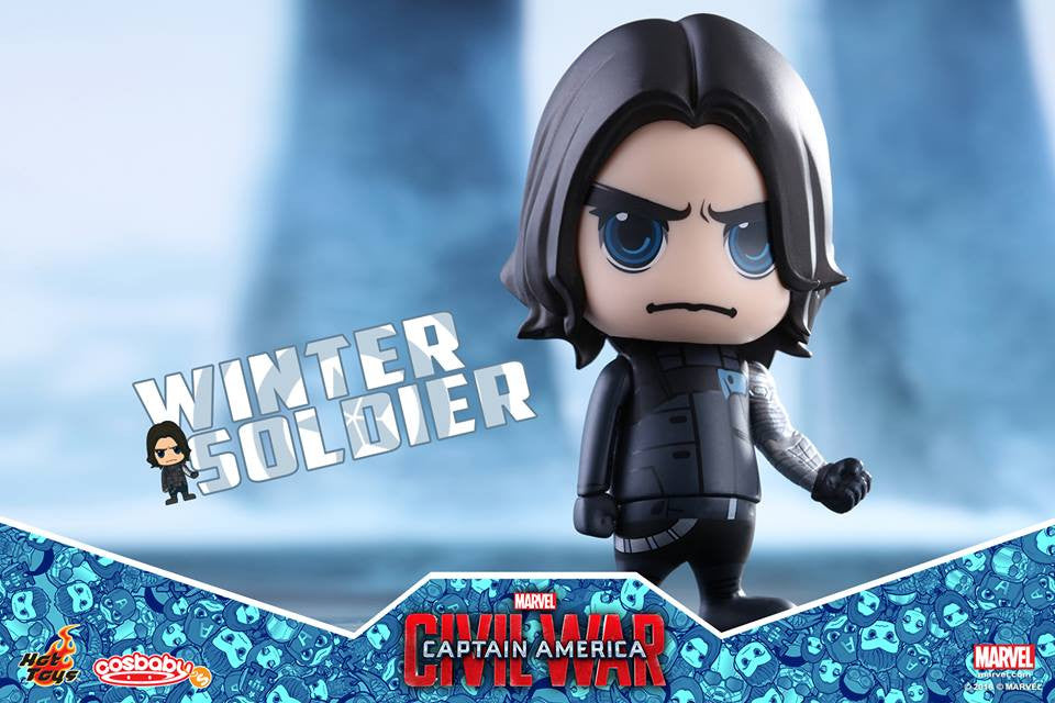 Hot Toys - COSB247 - Captain America: Civil War -  Winter Soldier Cosbaby Bobble-Head - Marvelous Toys - 2