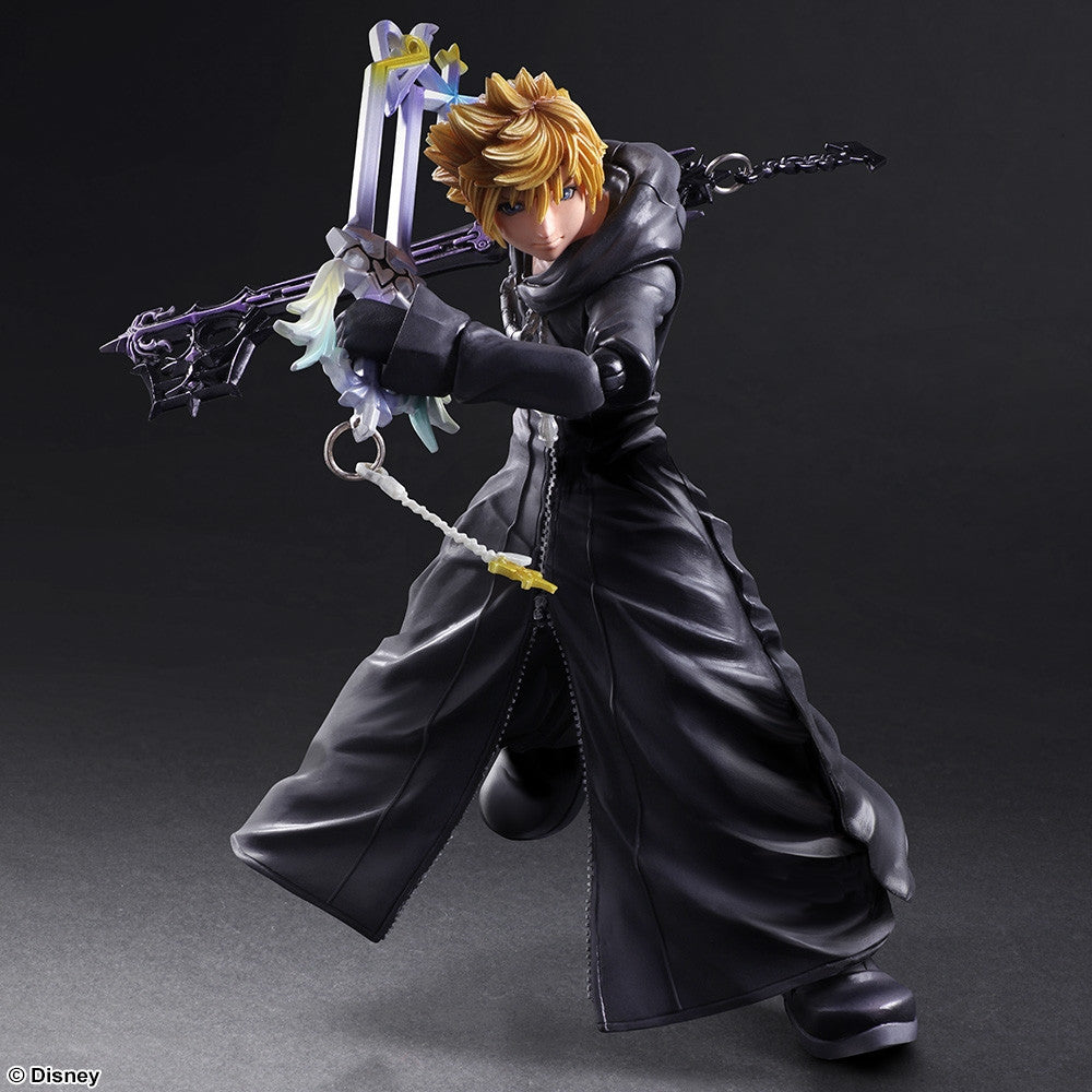 Play Arts Kai - Kingdom Hearts II - Roxas - Organization XIII Ver. - Marvelous Toys - 1