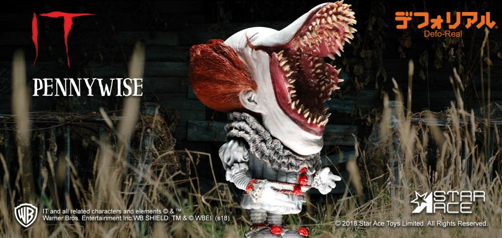 Star Ace Toys - Deform Real Series - IT (2017) - Pennywise (Open Mouth Ver.)