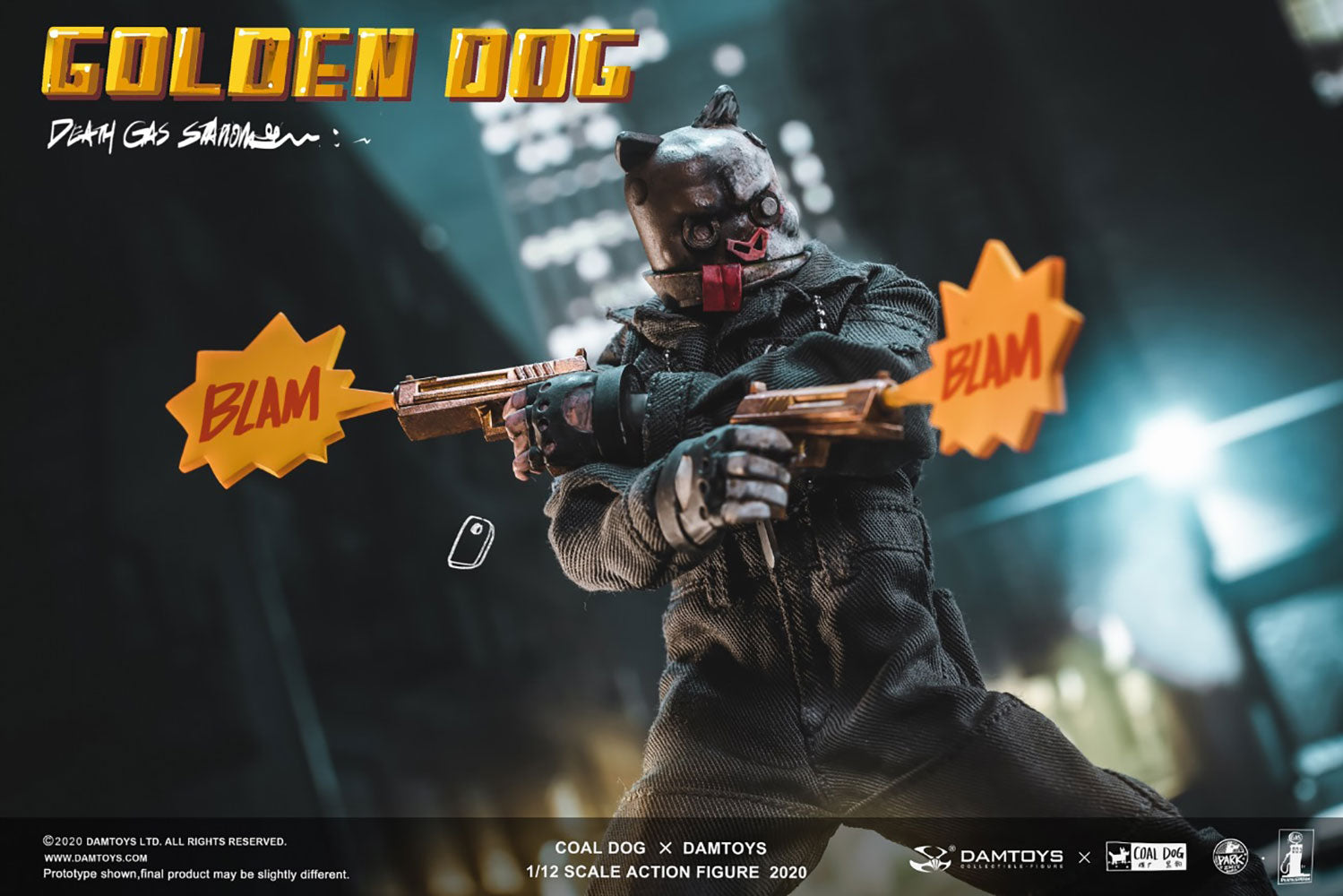 Damtoys x Coal Dog - Pocket Elite Series - PES022 - Death Gas Station - Golden Dog (1/12 Scale)