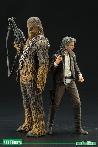 Kotobukiya - ARTFX+ - Star Wars: The Force Awakens - Han Solo & Chewbacca 2-Pack (1/10 Scale)