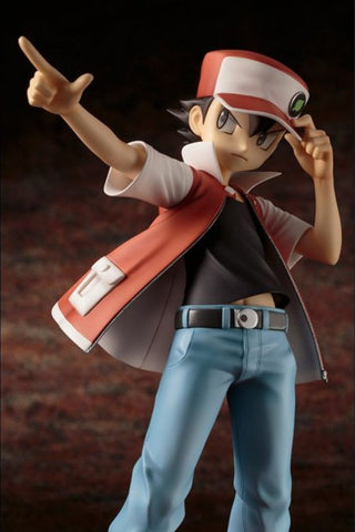 Kotobukiya - ARTFX-J - Pokemon - Red with Pikachu Statue - Marvelous Toys - 2
