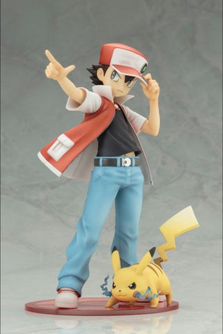 Kotobukiya - ARTFX-J - Pokemon - Red with Pikachu Statue - Marvelous Toys - 1