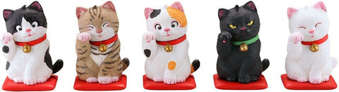 Kaiyodo - MiniQ - Sato Kunio's Lucky Cat (Box of 8)