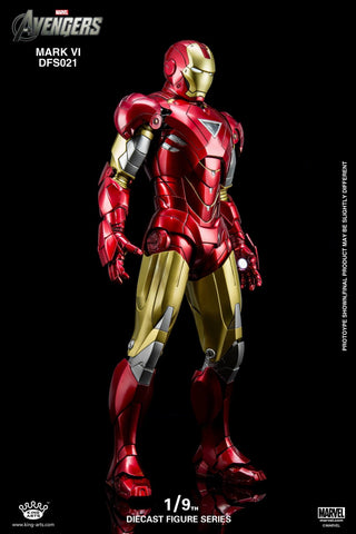 King Arts - 1/9 Diecast Iron Man Mark VI - Marvelous Toys - 1