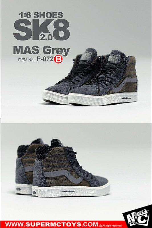 MC Toys - Sk8 Shoes 2.0 (MAS Grey) (1/6 Scale)