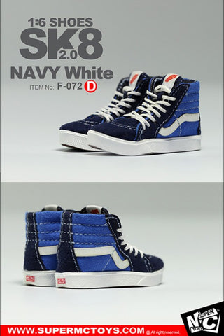 MC Toys - Sk8 Shoes 2.0 (Navy White) (1/6 Scale)