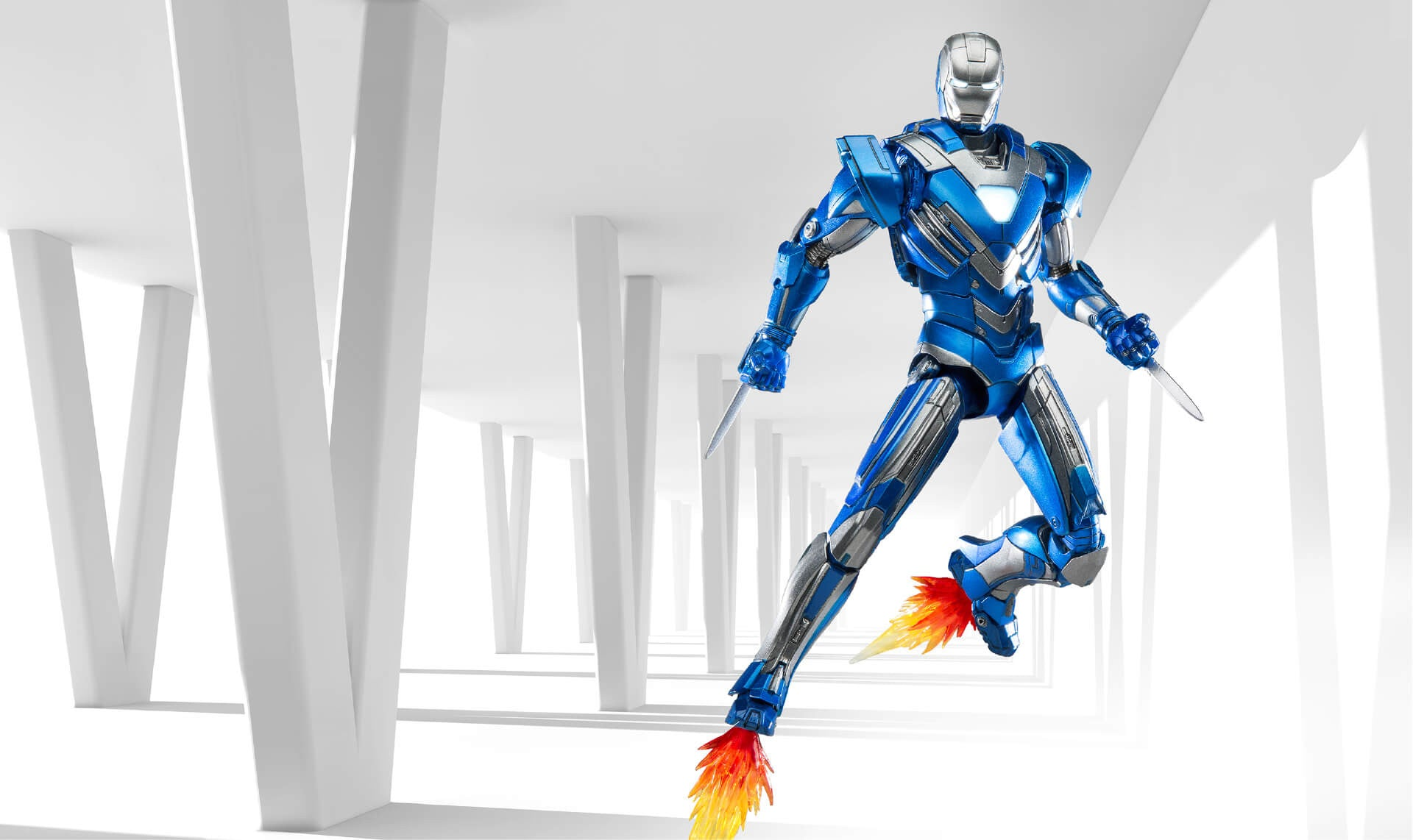 Comicave Studios - Omni Class: 1/12 Scale Iron Man Mark XXX Blue Steel - Marvelous Toys - 4