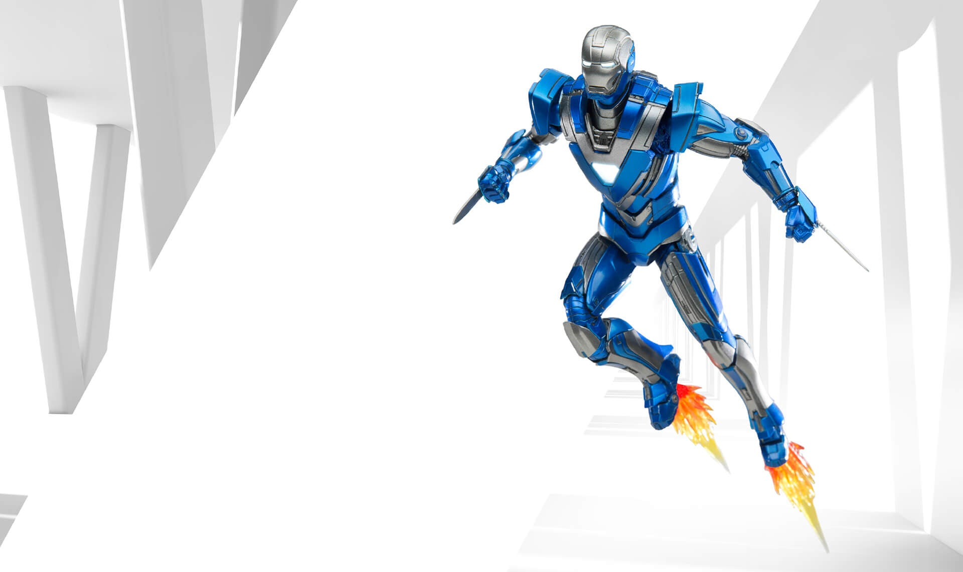 Comicave Studios - Omni Class: 1/12 Scale Iron Man Mark XXX Blue Steel - Marvelous Toys - 6