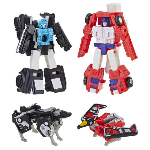 Hasbro - Transformers Generations - War For Cybertron: Siege - Micromaster Wave 2 - Laserbeak, Ravage, Red Heat, Stakeout