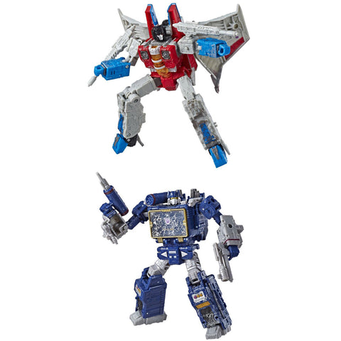 Hasbro - Transformers Generations - War For Cybertron: Siege - Voyager Wave 2 - Starscream, Soundwave