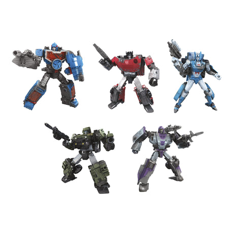 Hasbro - Transformers Generations - War for Cybertron: Trilogy - Deluxe - Set of 5 (Chromia, Hound, Mirage, Scrapface, Sideswipe)