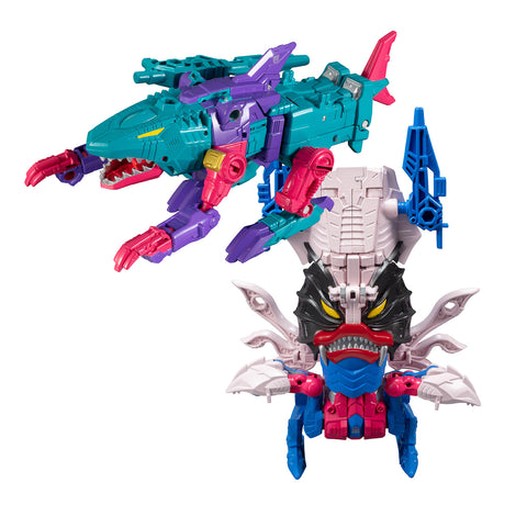 TakaraTomy - Transformers Generations Selects - King Poseidon Wave 3 - Seacons Overbite & Tentakil