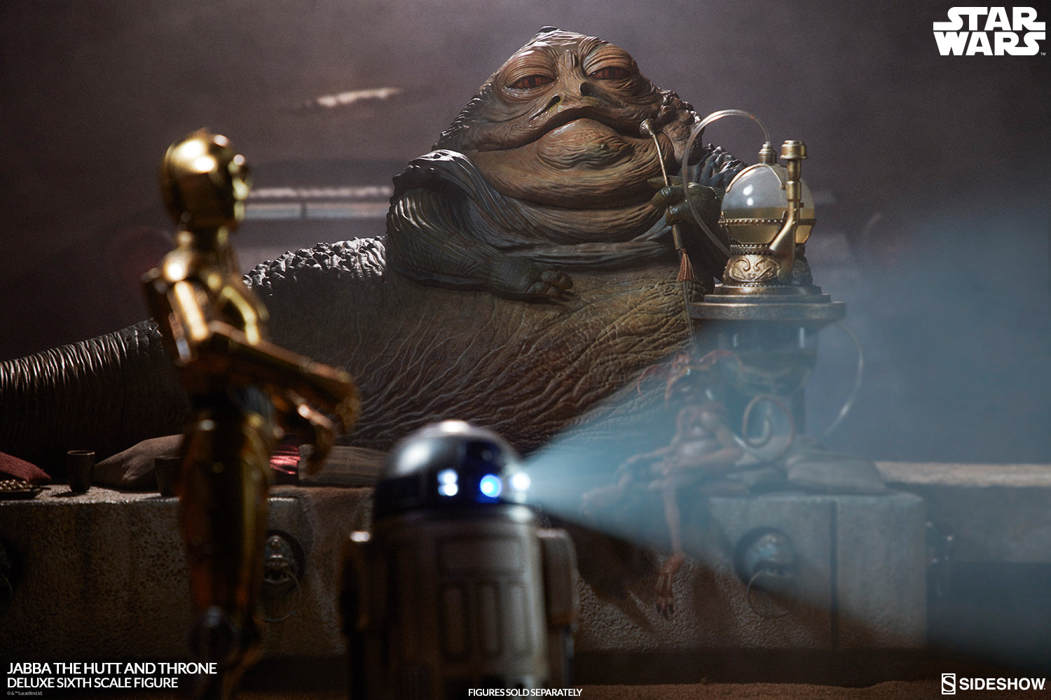 Sideshow Collectibles - Star Wars: Return of the Jedi - Jabba the Hutt and Throne Deluxe Sixth Scale Figure Set