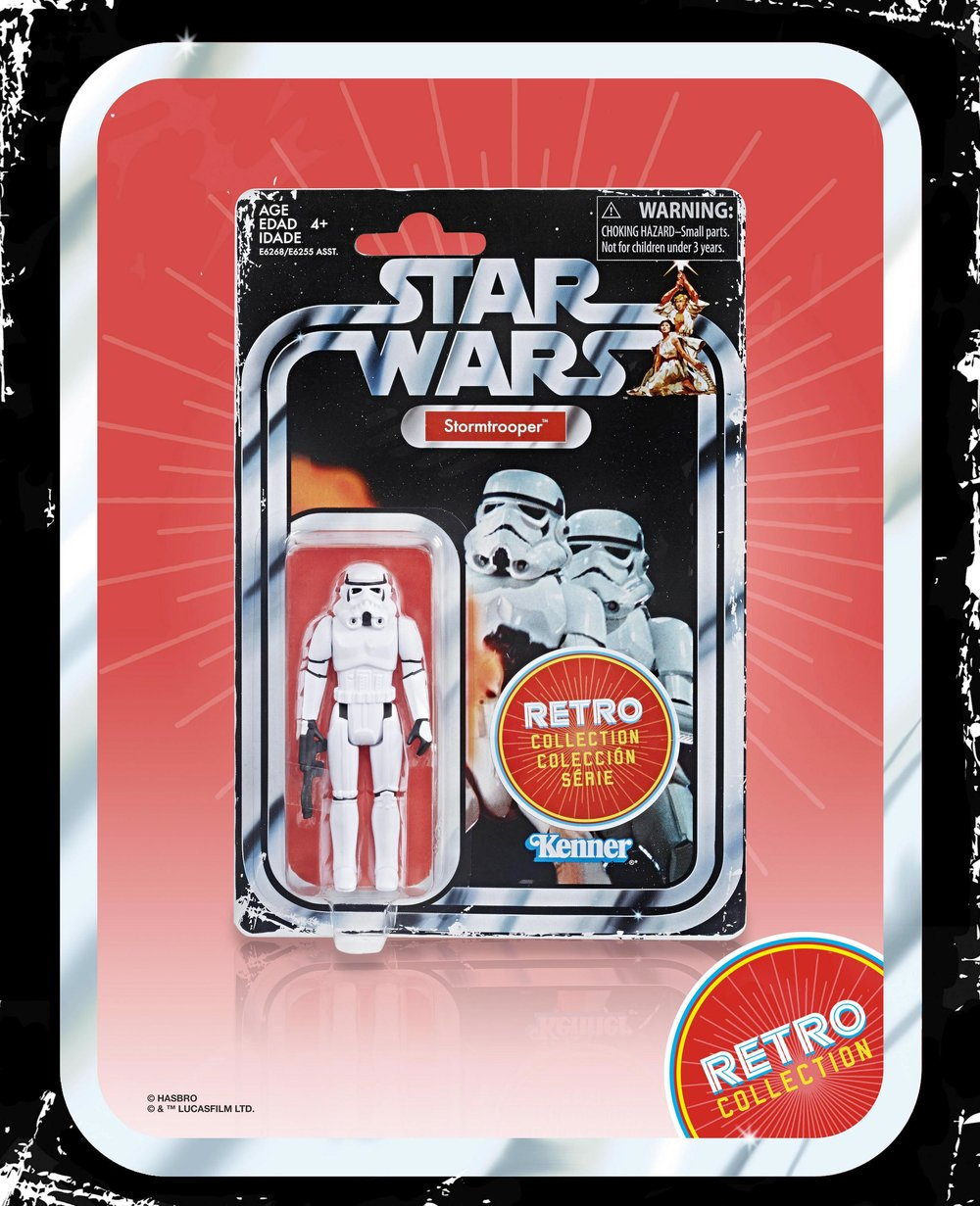 Hasbro - Star Wars Retro Collection - Chewbacca, Darth Vader, Han Solo, Luke Skywalker, Princess Leia, Stormtrooper (2019 Wave 1 Set of 6)