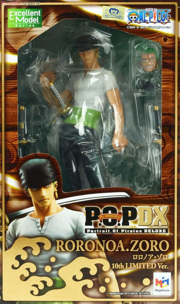 (IN STOCK) Roronoa Zoro 10th Limited Version - One Piece - Portrait of Pirates DX -Megahouse - Marvelous Toys - 5