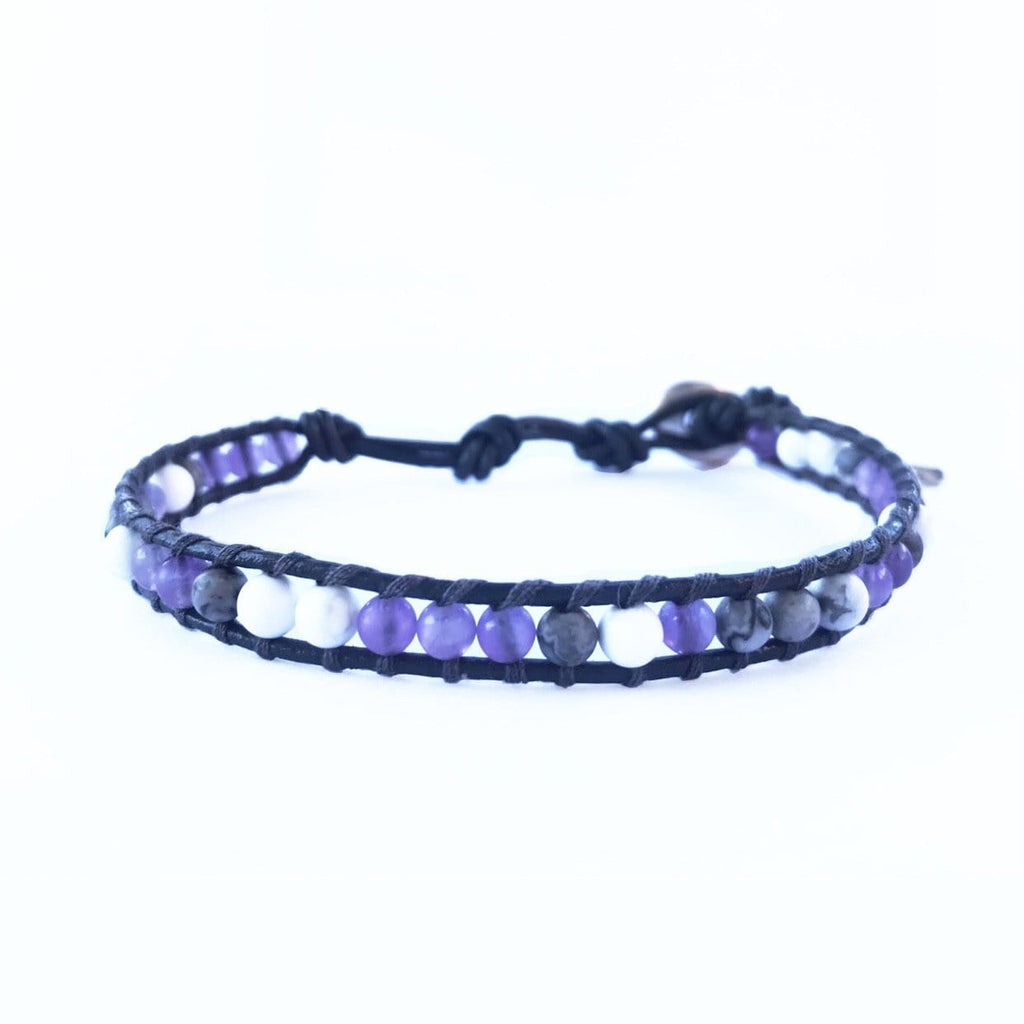 Purple Vibes Single Wrap Bracelet