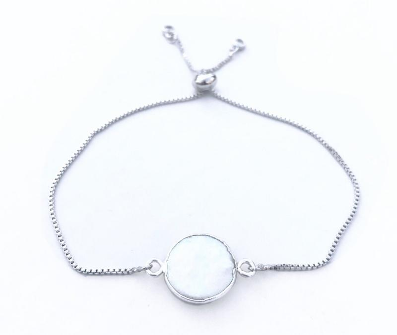 Mother of Pearl Silver Bracelet