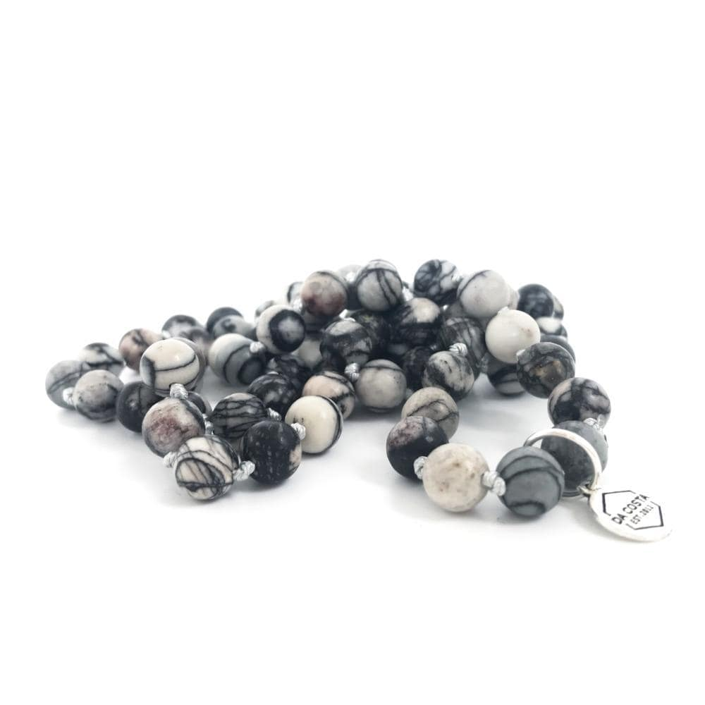 Men's Grey Stone Necklace - Da Costa