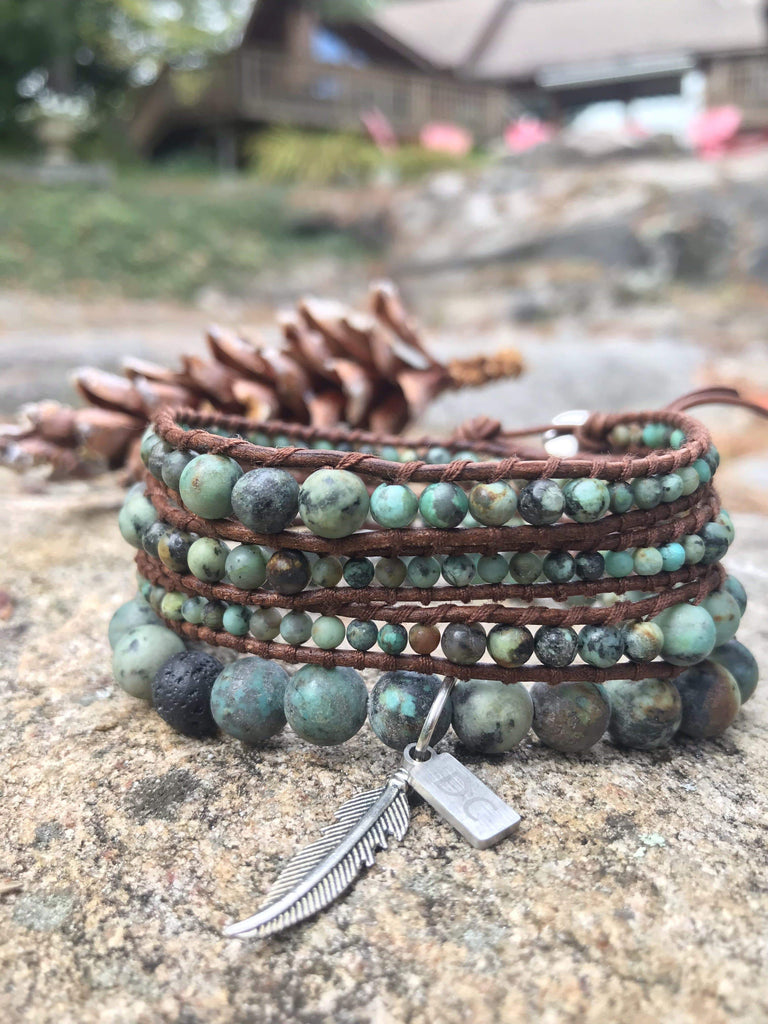 Natural Green Stone Bracelet Canada