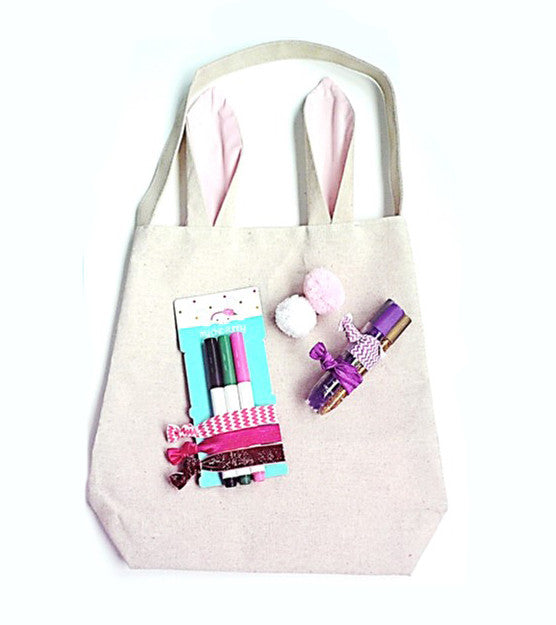 Bunny Tote with Craft Kit - 11 pcs
