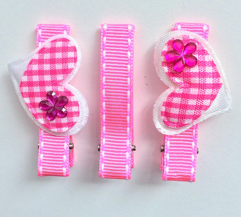 Heart clips  3 pack