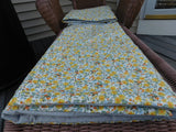 Quillow, Lap Quilt, Lap throw, Pillow - The Windmill in a field of Daisies