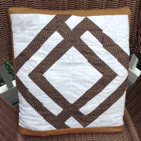 Quillow/Pillow/Lap Quilt/Lap Throw/ - Symmetric, modern, earth tone quillow