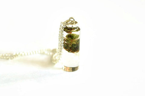 real marijuana necklace | cylinder weed pendant | cannabis in resin