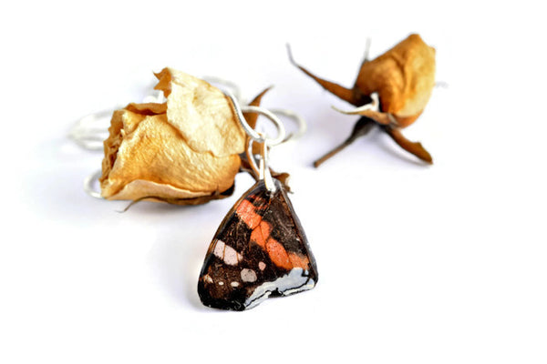 butterfly wing pendant | real insect necklace| byrima jewelry