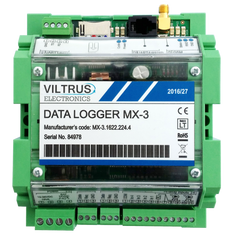 MX-3 Data Logger GPRS + M-Bus + Modbus (RS485) + RS232 + 2 x Analog IN + 4 x Discrete IN
