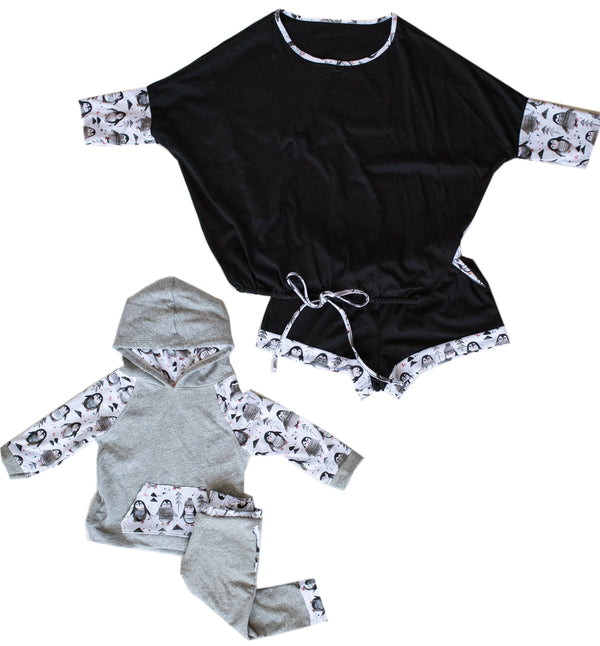 WOMEN'S LOUNGE SET IN MAMA BIRD