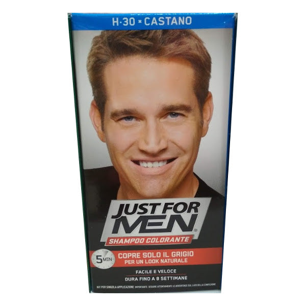 JUST FOR MEN - Shampoo Colorante castano
