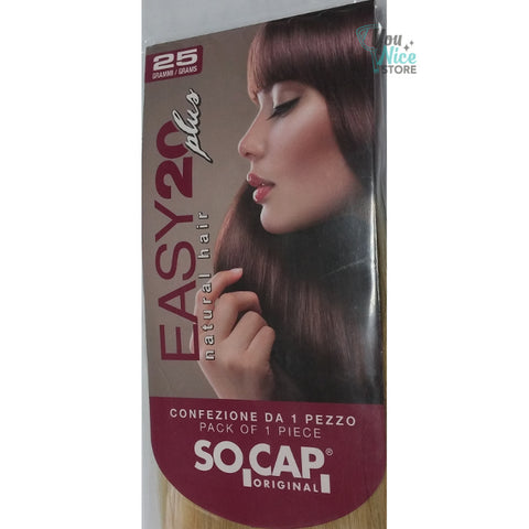 1 fascia extension professionali con 4 clips, Socap Original 50 55 cm Easy20 Plus
