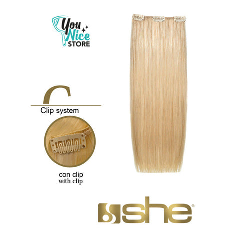 1 fascia extension professionali SHE Easy one clip 50 55 cm Capelli lisci shatush