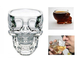 Crystal skull shotteglass (2 stk)