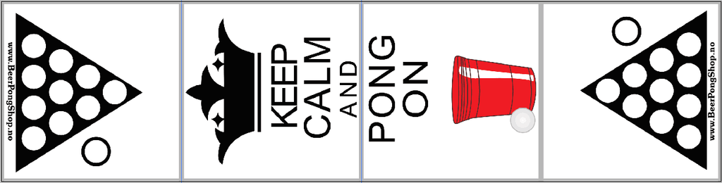 Beerpong Bord - Keep Calm And Pong On