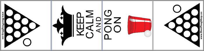 Beer Pong Bord - Keep Calm And Pong On