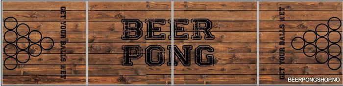 Beer Pong Bord - Vintage Wood